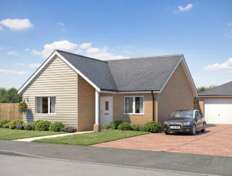 Architectural CGI impression of the Morston house type on the Ellingham housing development