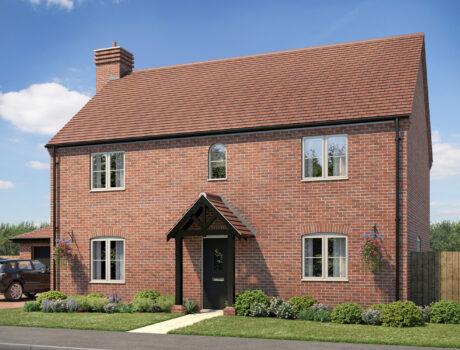 Architectural CGI impression of the Holkham house type on the Ellingham housing development