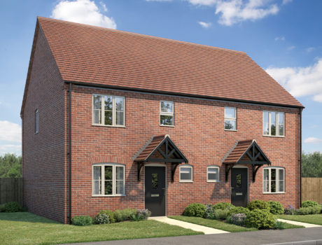 Architectural CGI impression of the Hoveton house type on the Ellingham housing development