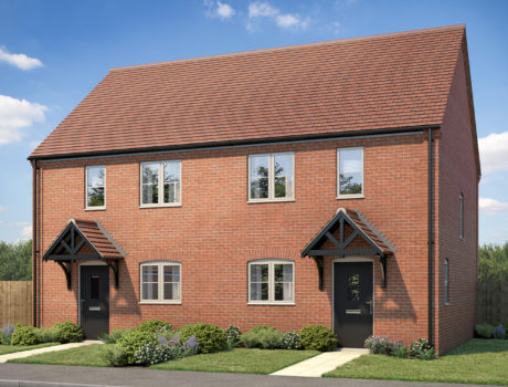 Architectural CGI impression of the Kelling house type on the Ellingham housing development