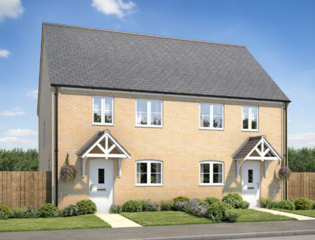 Architectural CGI impression of the Congham house type on the Ellingham housing development