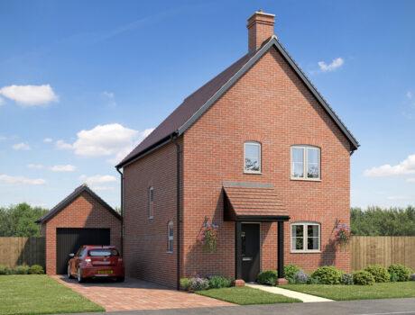 Architectural CGI impression of the Felbrigg house type on the Ellingham housing development