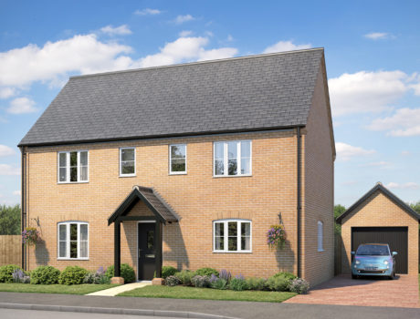 Architectural CGI impression of the Wiveton house type on the Ellingham housing development
